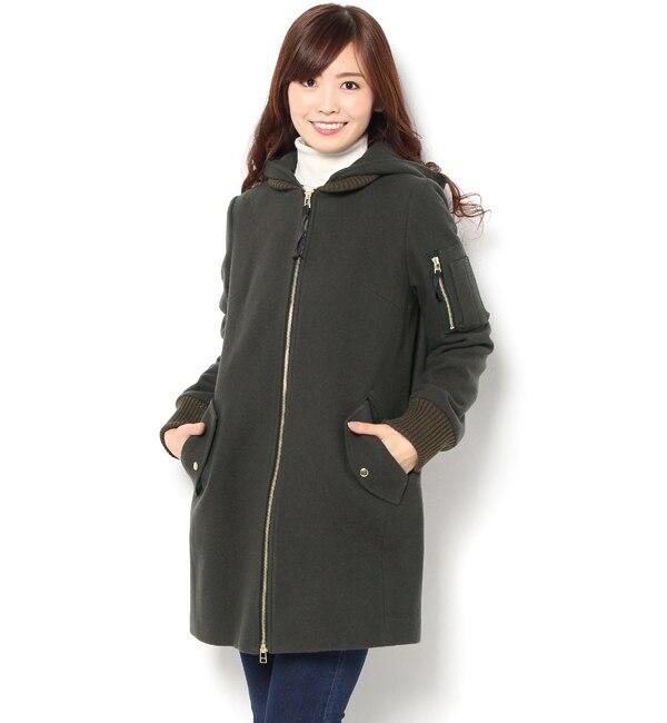 【ライチ/ライチ】 SRIC MA-1フード付きコート [送料無料]