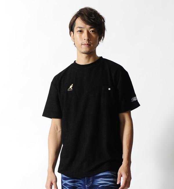 【カンゴール リワード/KANGOL REWARD】 金糸刺繍パイルクルーネックTシャツ
