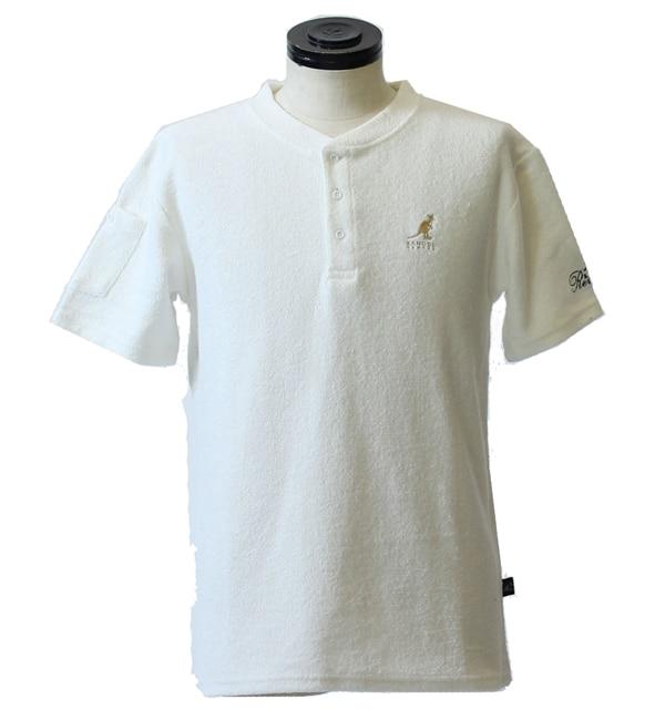 【カンゴール リワード/KANGOL REWARD】 金糸刺繍ヘンリーネックTシャツ