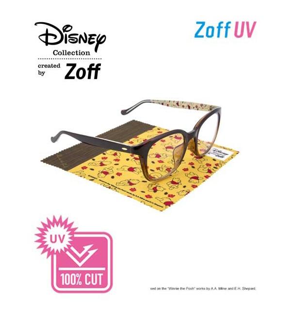 【ゾフ/Zoff】 UV100%カット Disney Collection Sunglasses 2017 ウェリントン クリア サングラス [送料無料]