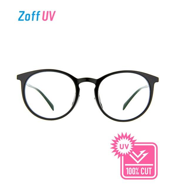 【ゾフ/Zoff】 Zoff UV CLEAR SUNGLASSES (UV100%カット) ボストン クリアサングラス