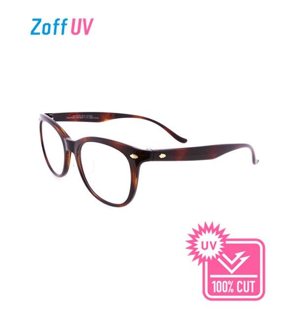 【ゾフ/Zoff】 Zoff UV CLEAR SUNGLASSES (UV100%カット) クリアサングラス ウェリントン