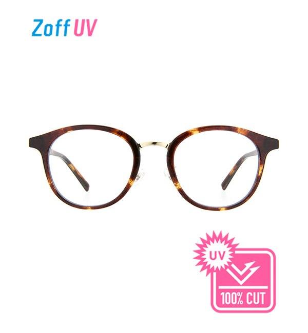 【ゾフ/Zoff】 Zoff UV CLEAR SUNGLASSES (UV100%カット) クリアサングラス ボストン