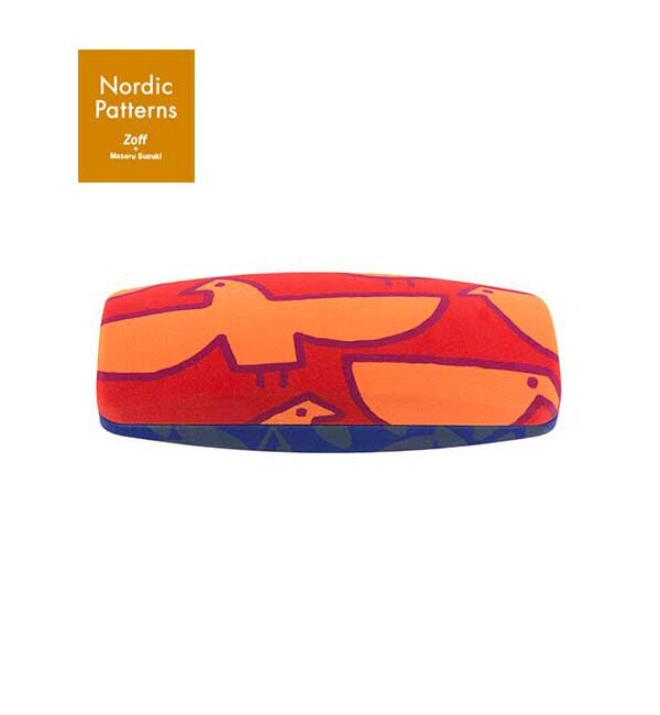 Zoff + Masaru Suzuki Nordic Patterns Cloth ノルディック パターン メガネ/サングラス ケース【ゾフ/Zoff レディス, メンズ, キッズ ステーショナリー オレンジ ルミネ LUMINE】