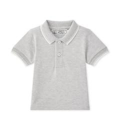 <アイルミネ> プチバトー厳選 鹿の子編み半袖ポロシャツ [送料無料]画像