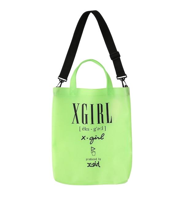 【エックスガール/X?girl】 MILKY VINYL 2WAY BAG