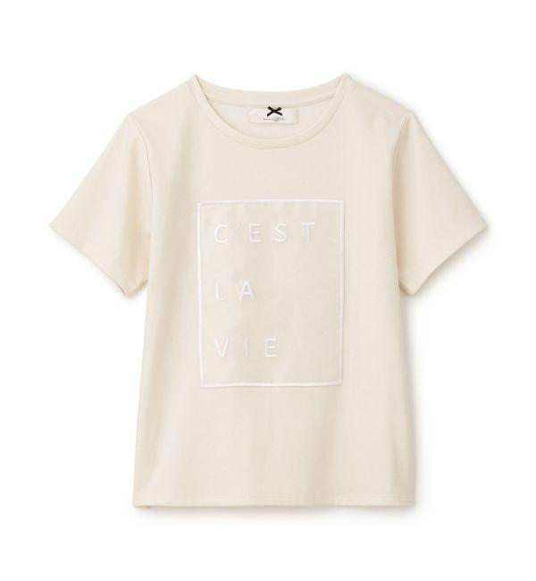 【シュープリームララ/Supreme.La.La.】 オーガンジーシシュウTシャツ