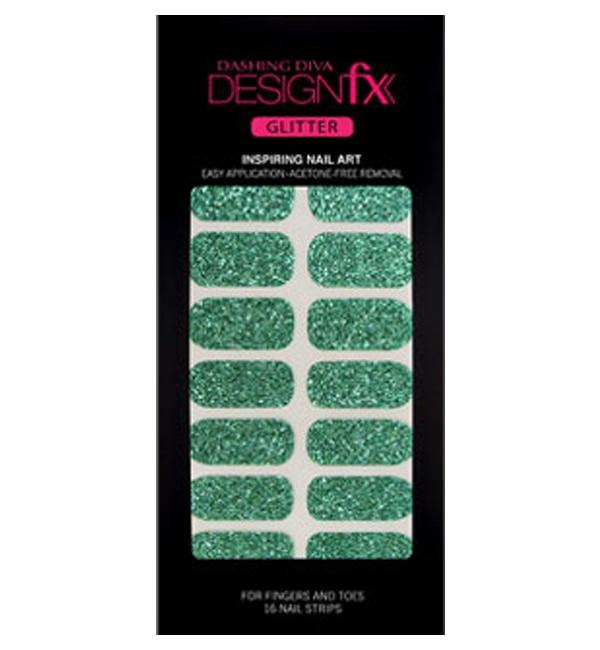 【ダッシングディバ/DASHING DIVA】 デザインフィックス グリッター Emerald Sparkling 16枚(8サイズ)