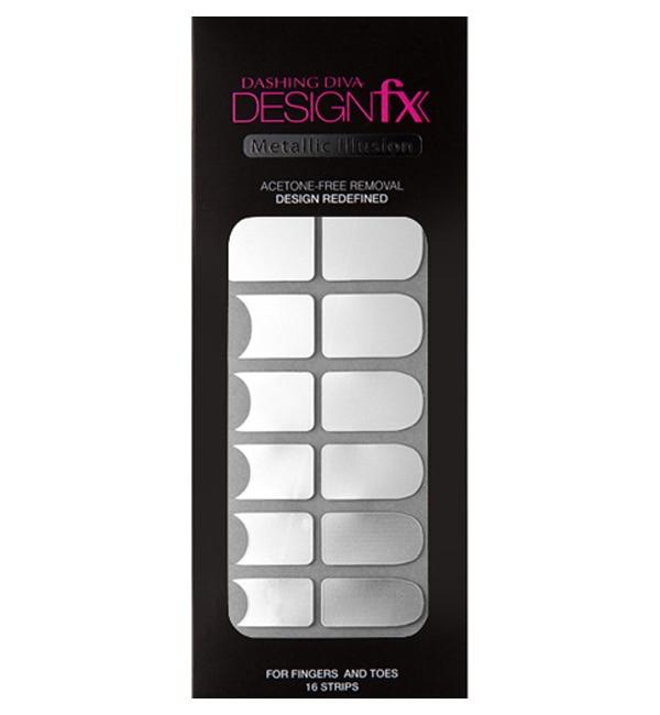 【ダッシングディバ/DASHING DIVA】 デザインフィックス メタリック Metallic Silver 16枚(8サイズ)