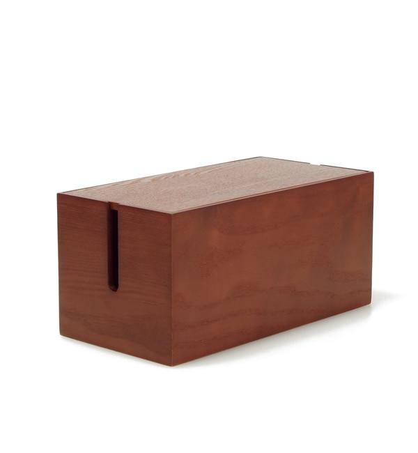 【アーノット/arenot】 オルガン コードボックス ミニ ダークブラウン ウッド(ORGAN CORD BOX mini dark brown wood)