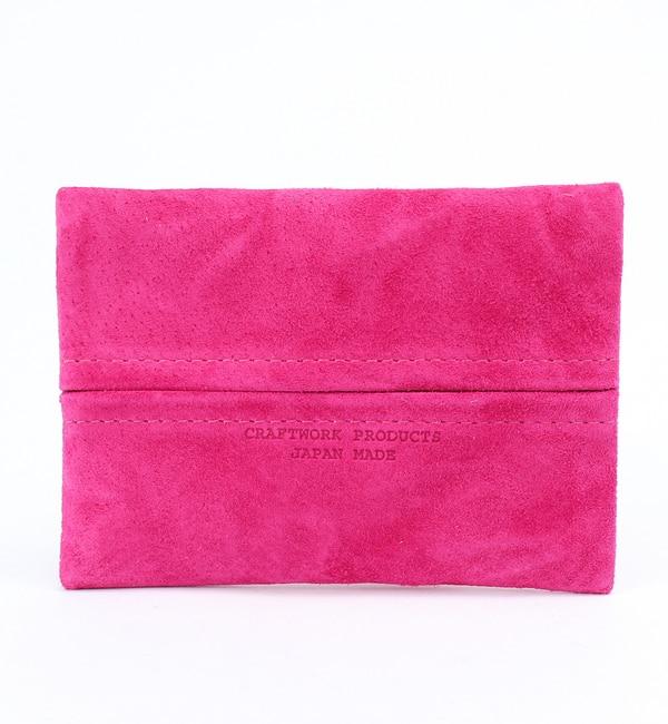 【アーノット/arenot】 スエード ポケットティッシュケース ピンク(SUEDE POCKET TISSUE CASE pink) [3000円(税込)以上で送料無料]