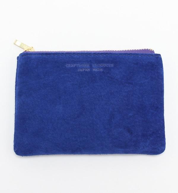 【アーノット/arenot】 スエード フラットポーチ S ブルー(SUEDE FLAT POUCH S blue) [3000円(税込)以上で送料無料]