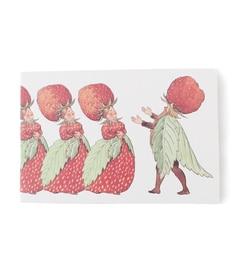【アーノット/arenot】 エルサ カード封筒 ストロベリーファミリー(Elsa CARD WITH ENVELOPE strawberry family) [3000円(税込)以上で送料無料]