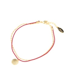 【アーノット/arenot】 コイン アンクレット レッド/ゴールド(COIN ANKLET red/gold) [3000円(税込)以上で送料無料]