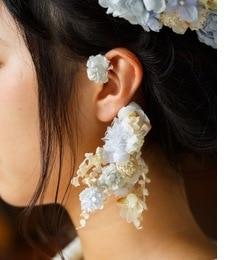 春の朝露のイヤーカフス【エムスール/m.soeur レディス イヤリング ブルー ルミネ LUMINE】