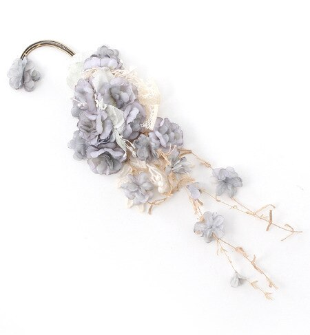 【エムスール/m.soeur】 グレーの小花のイヤーカフ [送料無料]