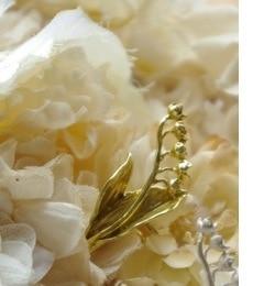 【エムスール/m.soeur】 スズランのイヤークリップ*ゴールド [送料無料]