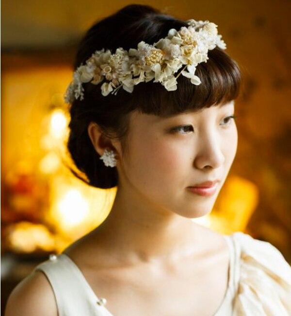 【エムスール/m.soeur】 レースと小花の花冠