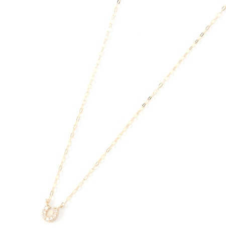【ノワール ド プーペ /NOIR DE POUPEE】 K10YG Diamond馬蹄ネックレス [送料無料]