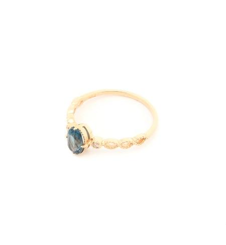 【ノワール ド プーペ /NOIR DE POUPEE】 K10 ロンドンブルートパーズ&ダイヤモンド ツイストリング [送料無料]