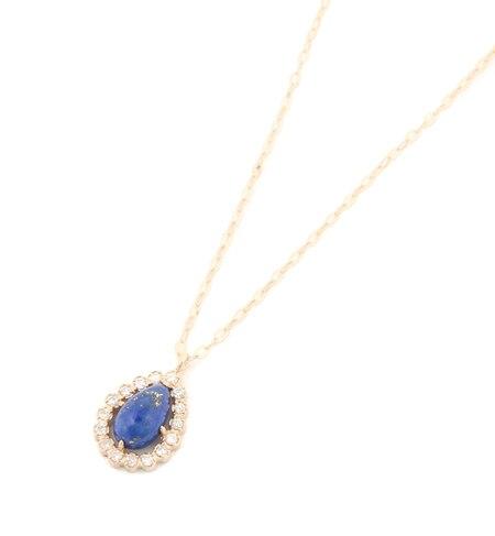 【ノワール ド プーペ /NOIR DE POUPEE】 K10 ダイヤモンド ストーン ペアシェイプネックレス [送料無料]