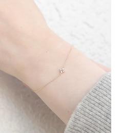 【ノワール ド プーペ /NOIR DE POUPEE】 K10 ダイヤモンド ゴールドブレスレット [送料無料]