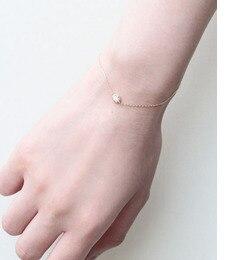 【ノワール ド プーペ /NOIR DE POUPEE】 K10 オパール ゴールドチェーンブレスレット [送料無料]