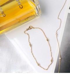 【ノワール ド プーペ /NOIR DE POUPEE】 K10 シンプルゴールドチェーン ブレスレット [送料無料]