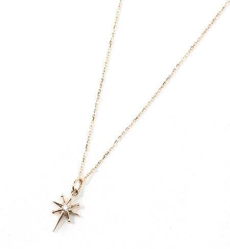 【ミロア/miroir】 K10 STAR CROSSネックレス [送料無料]