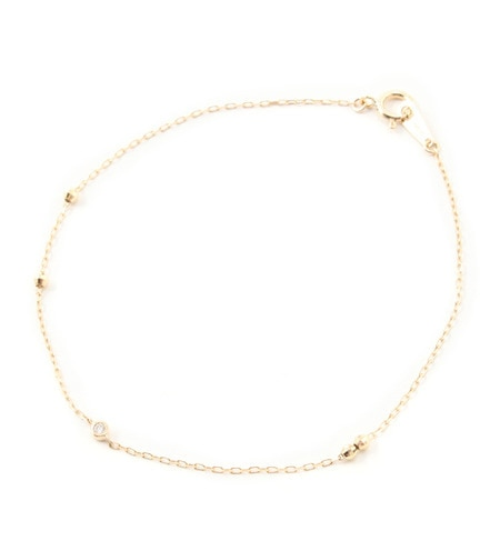 【ミロア/miroir】 K10 一粒ダイヤブレス [送料無料]