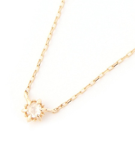 【ミロア/miroir】 K10 一粒ダイヤローズカットネックレス [送料無料]