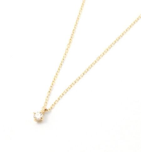 【エテ/ete】 K18YGフルール ネックレス 4月の誕生石ダイヤモンド [送料無料]