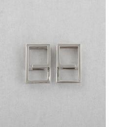 【エテ/ete】 スクエア プラチナカラー ループイヤリング [送料無料]