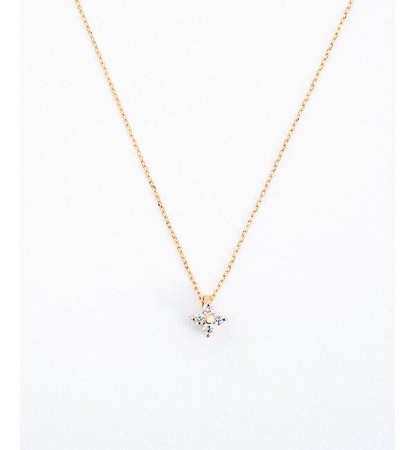 【エテ/ete】 K18PG ダイヤモンド ネックレス「ブライト」