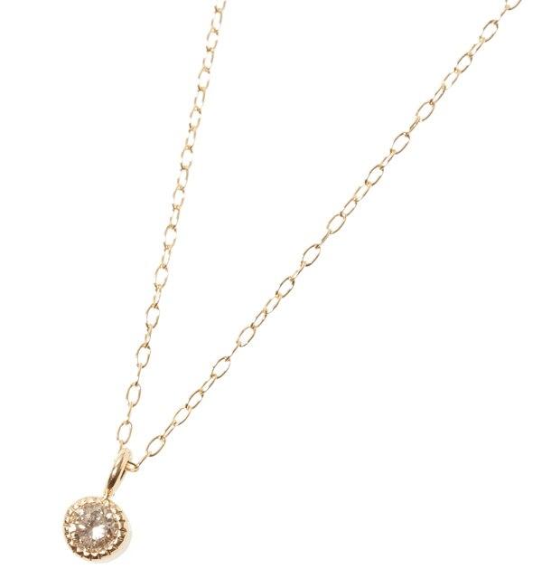 【キュイキュイ/cui?cui】 プチペンK18 シャンパンダイヤ1粒ネックレス [送料無料]