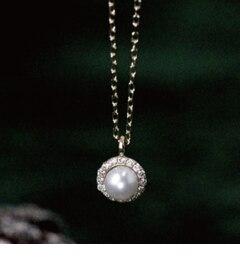 【キュイキュイ/cui?cui】 K18 パール&ダイヤモンド ネックレス [送料無料]