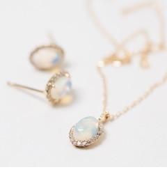 【キュイキュイ/cui?cui】 K18 エチオピアオパール&ダイヤモンド ネックレス [送料無料]