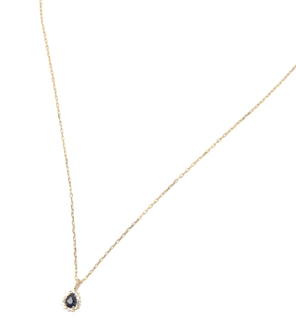 【キュイキュイ/cui-cui】 K10YG サファイア&ダイヤモンド ネックレス