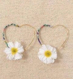 【ワームス/warmth】 Flower ◆ Heart pierce hoop [送料無料]