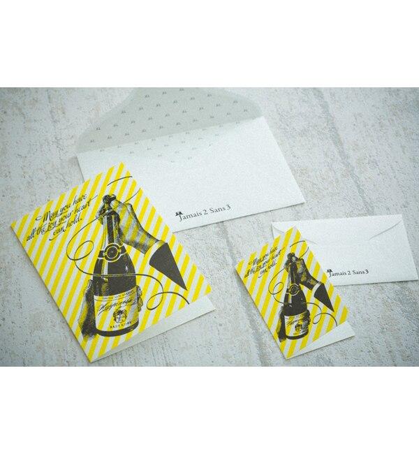 【エディト・トロワ・シス・サンク/EDITO 365】 Jamais 2 Sans 3 シャンパンパーティー グリーティングカード(M) [3000円(税込)以上で送料無料]