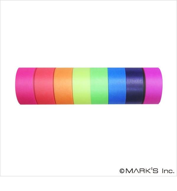 【エディト・トロワ・シス・サンク/EDITO 365】 マスキングテープ 8巻セット(カラーミックス・VISIBLE NEON) / maste [3000円(税込)以上で送料無料]