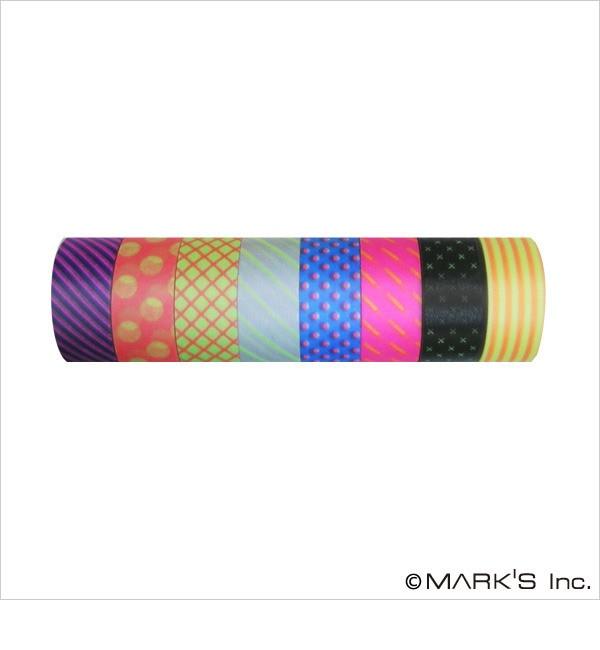 【エディト・トロワ・シス・サンク/EDITO 365】 マスキングテープ 8巻セット(パターンミックス・VISIBLE NEON) / maste [3000円(税込)以上で送料無料]