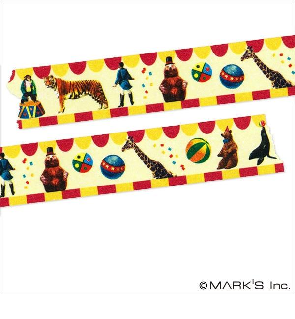【エディト・トロワ・シス・サンク/EDITO 365】 マスキングテープ マルチ(リアルアニマル・サーカス) / maste [3000円(税込)以上で送料無料]