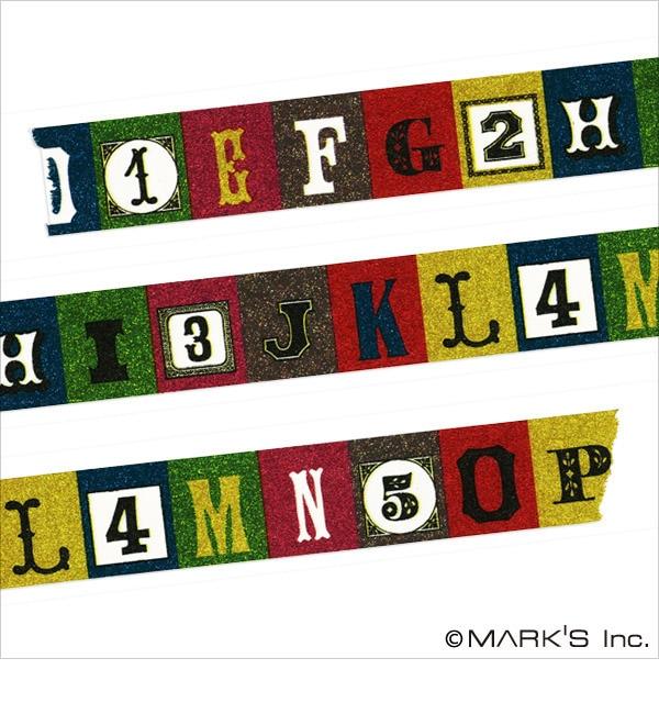 【エディト・トロワ・シス・サンク/EDITO 365】 マスキングテープ マルチ(アルファベット) / maste [3000円(税込)以上で送料無料]