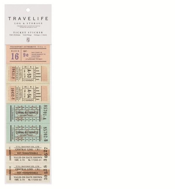 【エディト・トロワ・シス・サンク/EDITO 365】 チケットステッカー トラベライフ [3000円(税込)以上で送料無料]