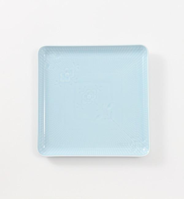 【ブルー バイ ロイヤル コペンハーゲン/BLUE by ROYAL COPENHAGEN】 【フラワーエンブレム】スクエアディッシュ ブルーローズ [送料無料]