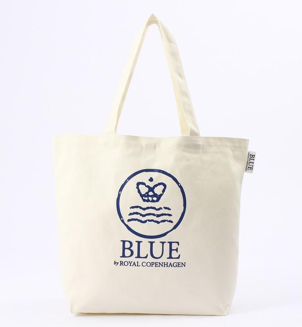 【ブルー バイ ロイヤル コペンハーゲン/BLUE by ROYAL COPENHAGEN】 トートバッグ L ホワイト [3000円(税込)以上で送料無料]