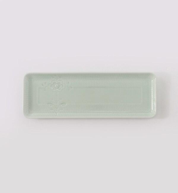 【ブルー バイ ロイヤル コペンハーゲン/BLUE by ROYAL COPENHAGEN】 【フラワーエンブレム】トレイ グリーンティー [送料無料]