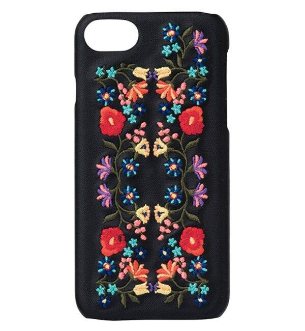 【ボン・フェット/Bonnes Fetes】 【iPhone8・7・6S・6対応】背面型ケース・エンブロイダリー/デジタルアクセサリー