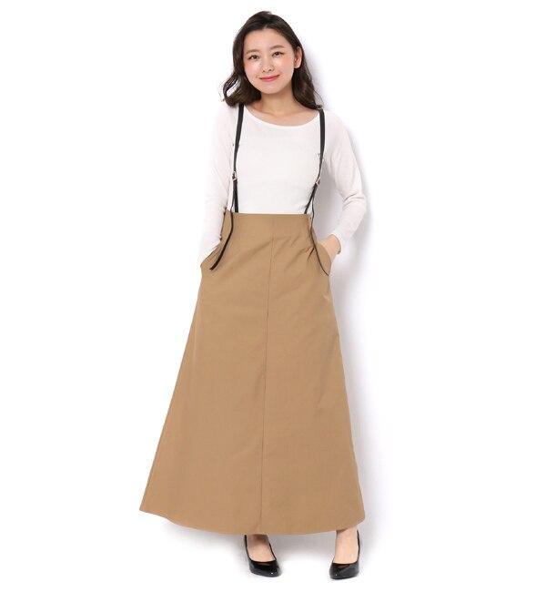 【アンドクチュール/And Couture】 サスぺ付きマキシ丈スカート